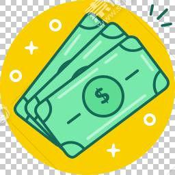 卡通金钱背景免抠素材下载 图片id 1818 图标元素 Png素材 素材宝scbao Com