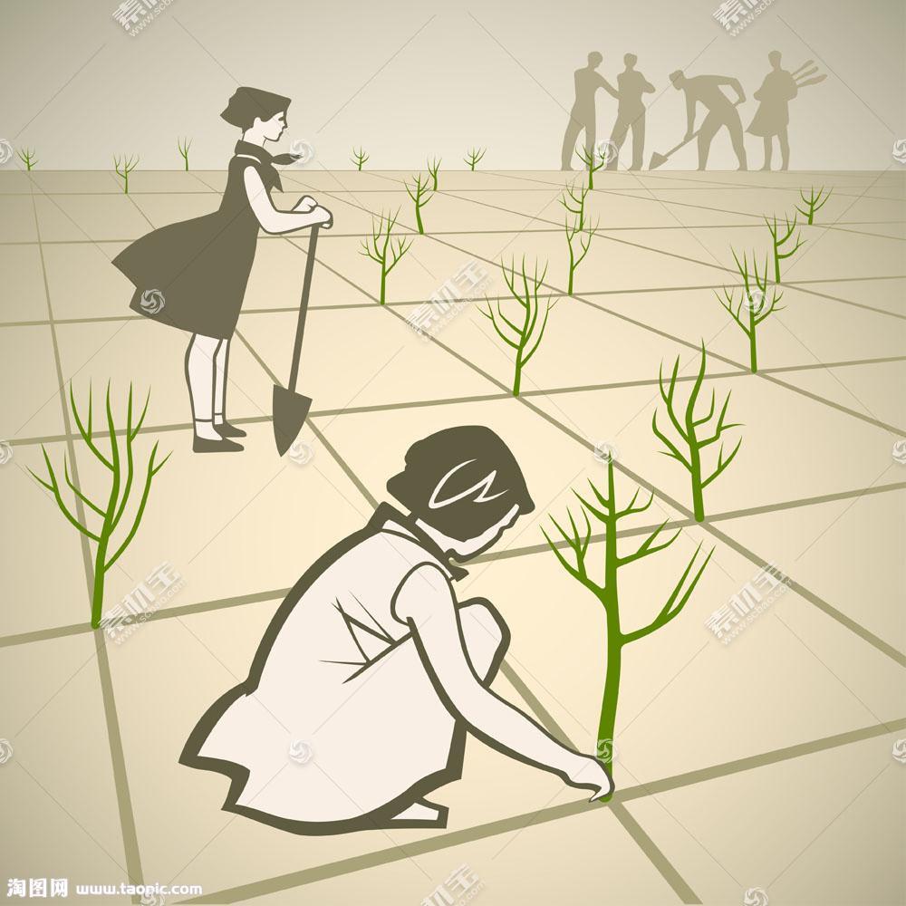植树节矢量海报图片