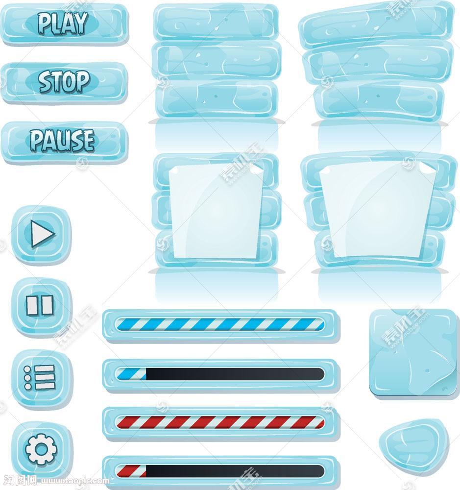 游戏按钮图标素材图片