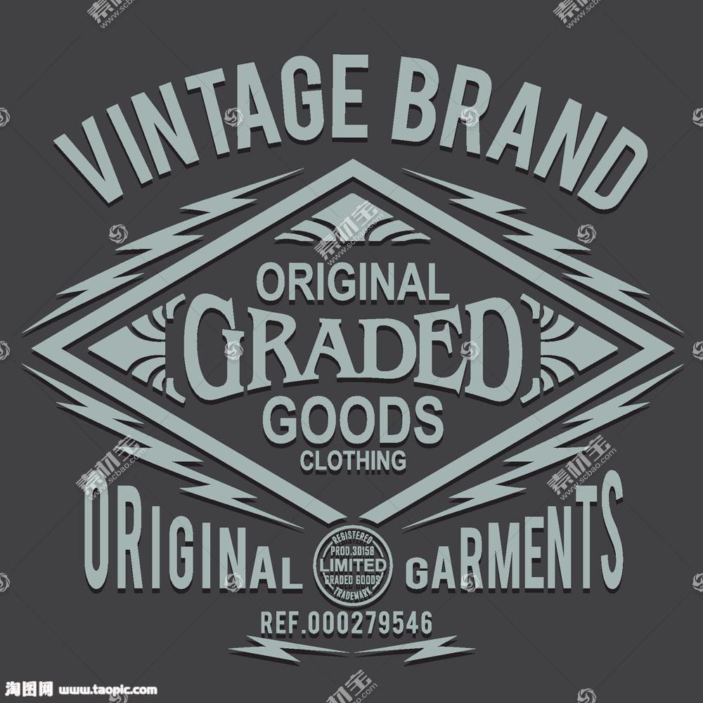 英文图案T恤印花设计