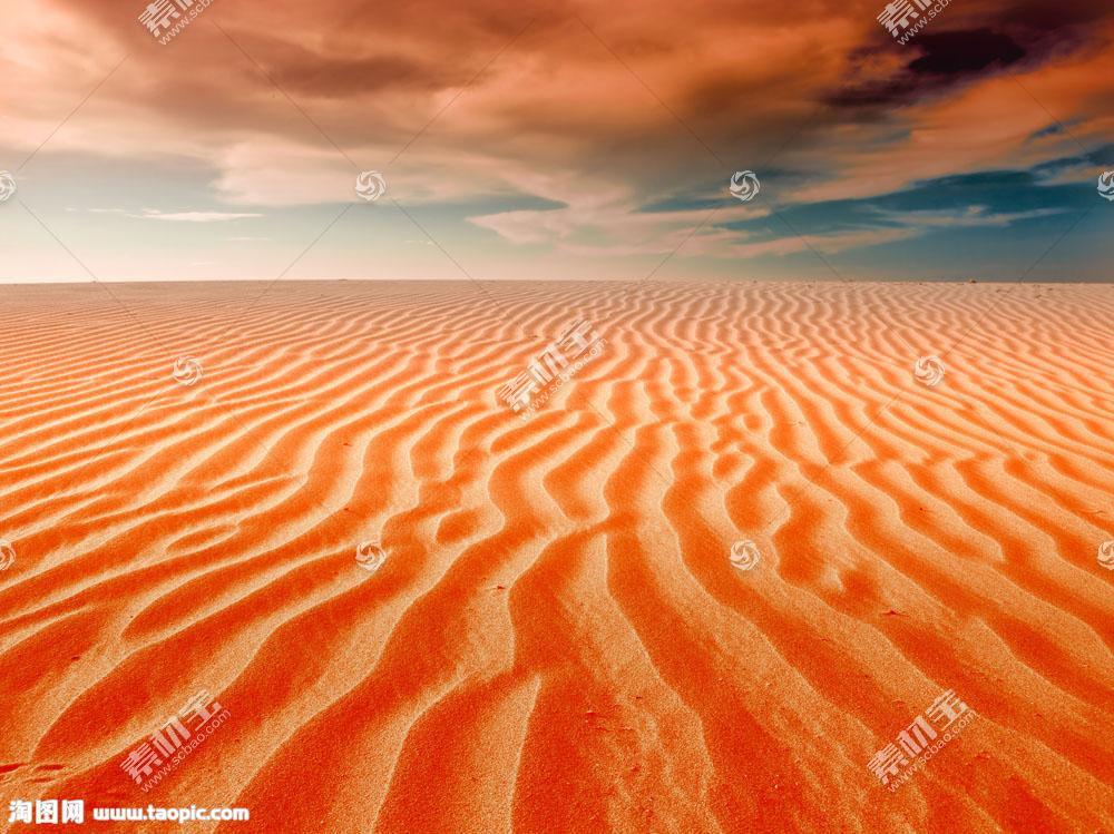 美丽沙漠景色