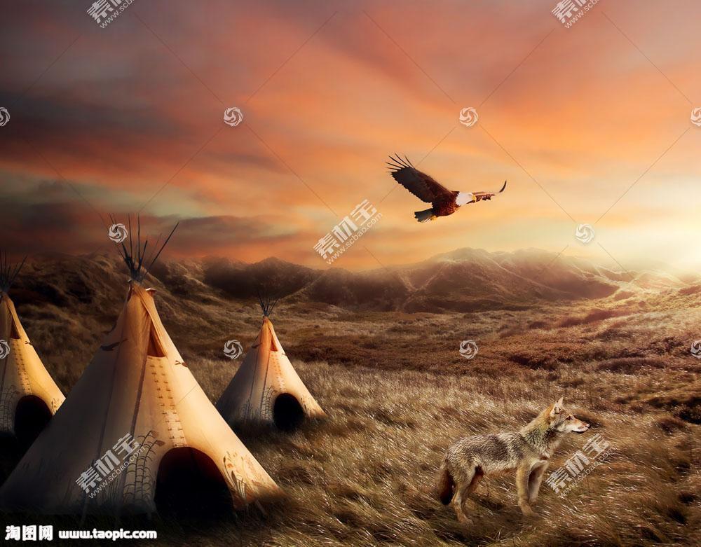 原始部落风景