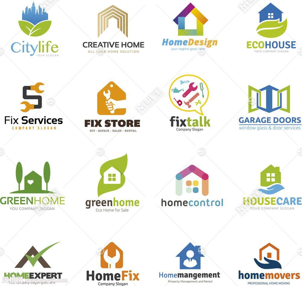 个性创意房屋地产标志