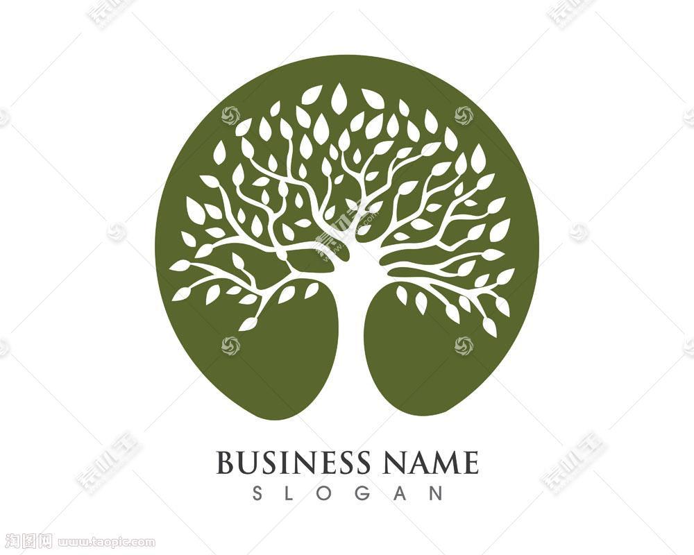 个性创意大树叶子标志