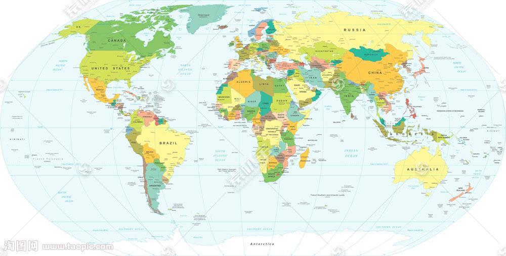 详细世界地图图片