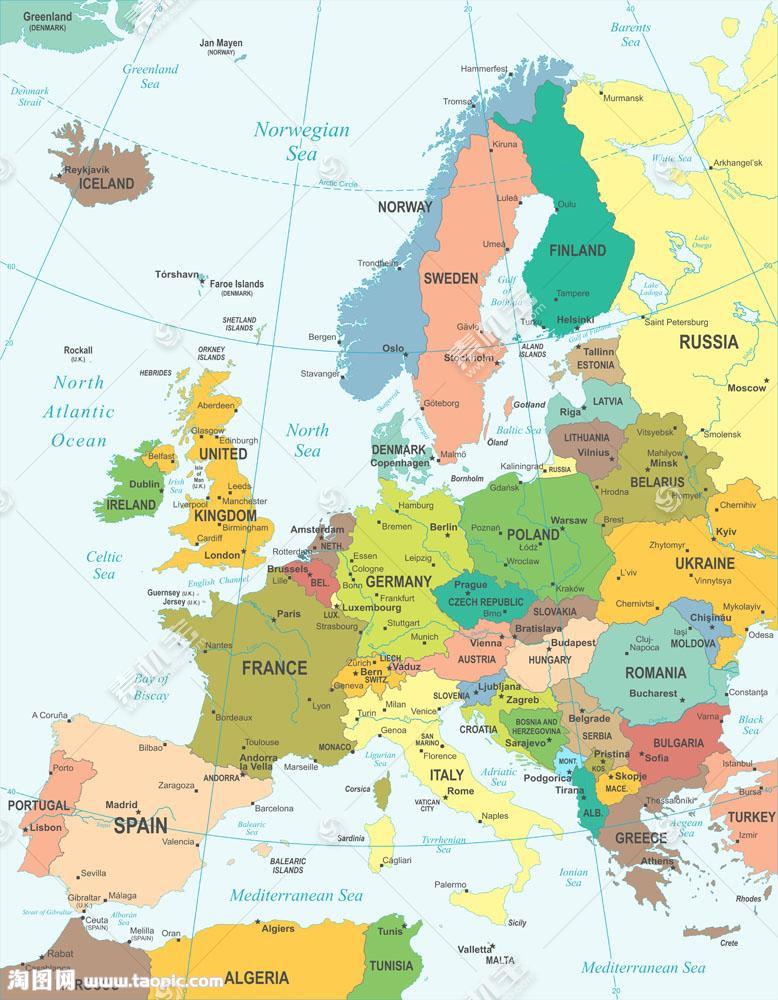 世界地图一角图片