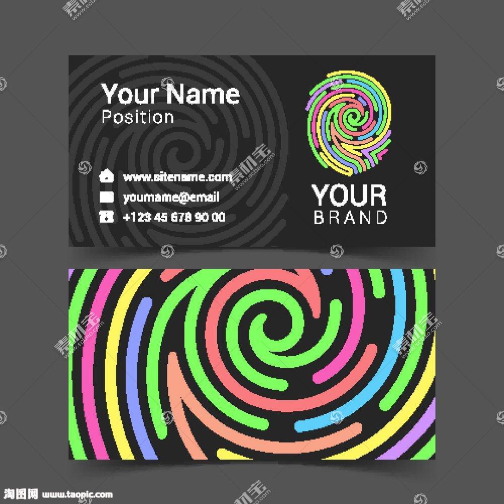 拇指印logo名片设计