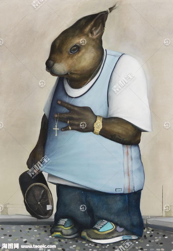 抽象动物插画图片