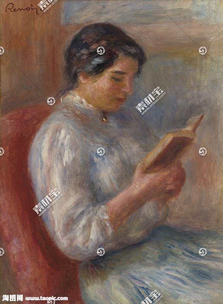 看书的女孩图片