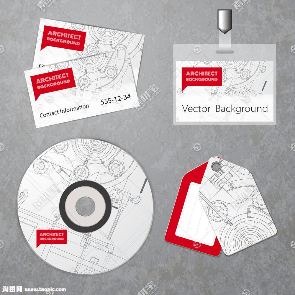 手绘涂鸦企业识别系统VI模板