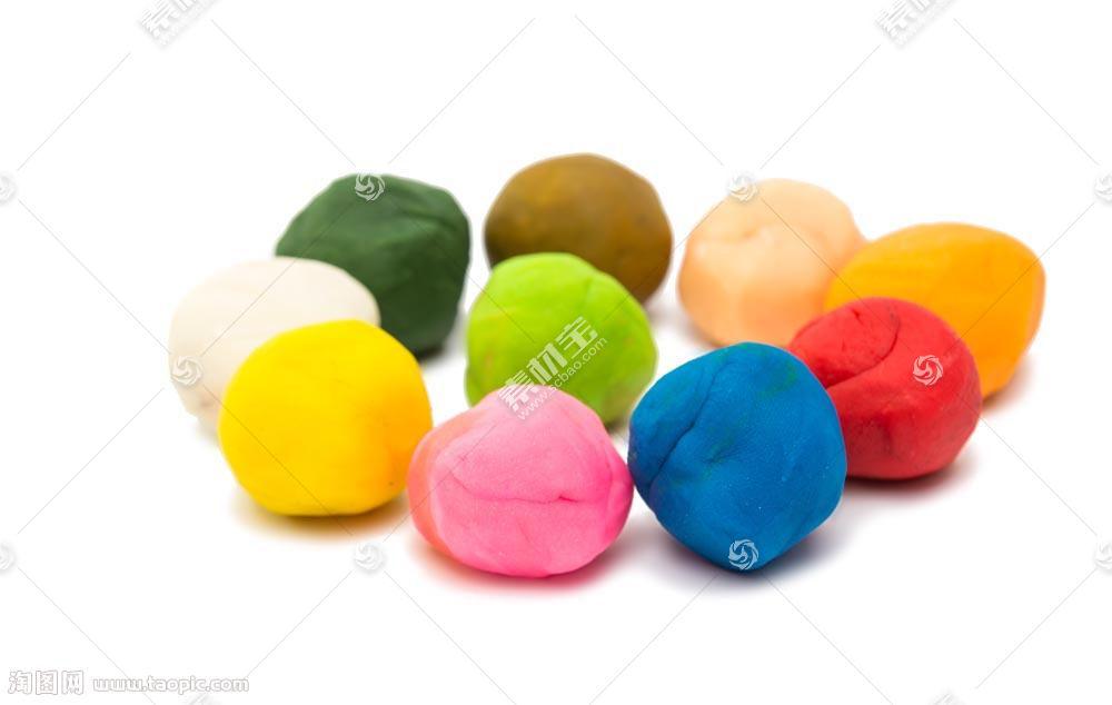 一堆彩色圆形橡皮泥