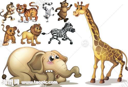 非洲动物漫画图片