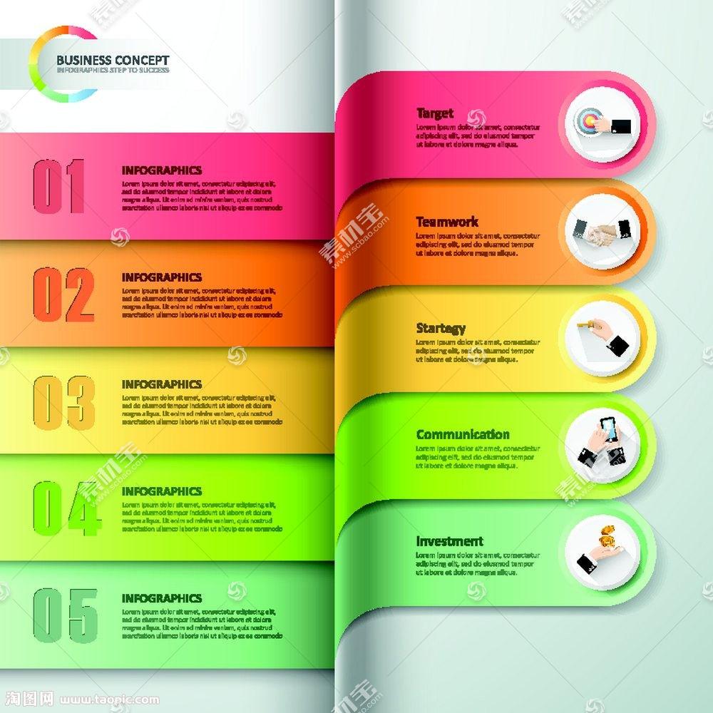 立体商务标签图表
