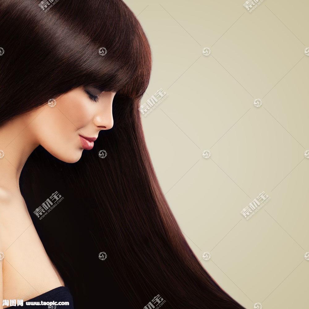 美丽长发模特