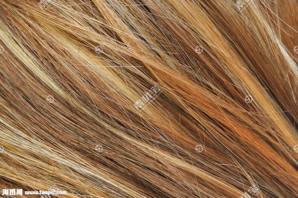 黄色头发纹理背景