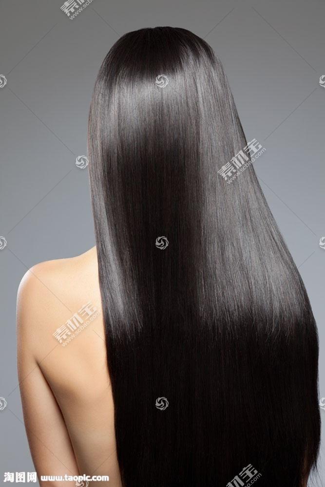 黑色顺滑秀发美女