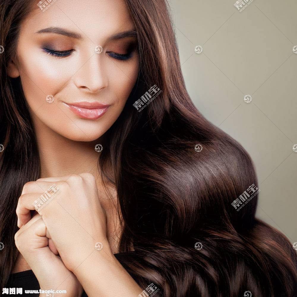 美丽发型模特