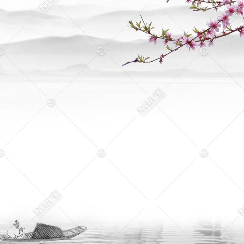 中国风图片水墨梅花水墨江南