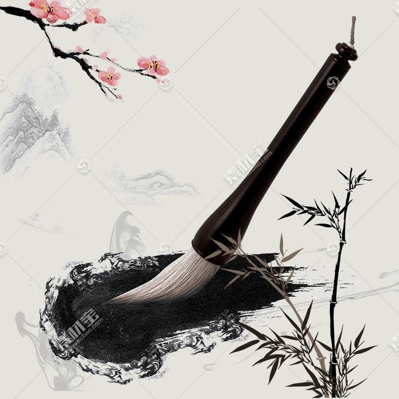 毛笔水墨中国风背景