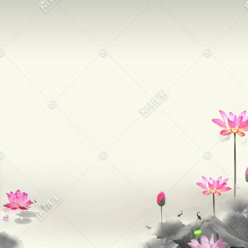 植物与风景背景水墨中国风背景