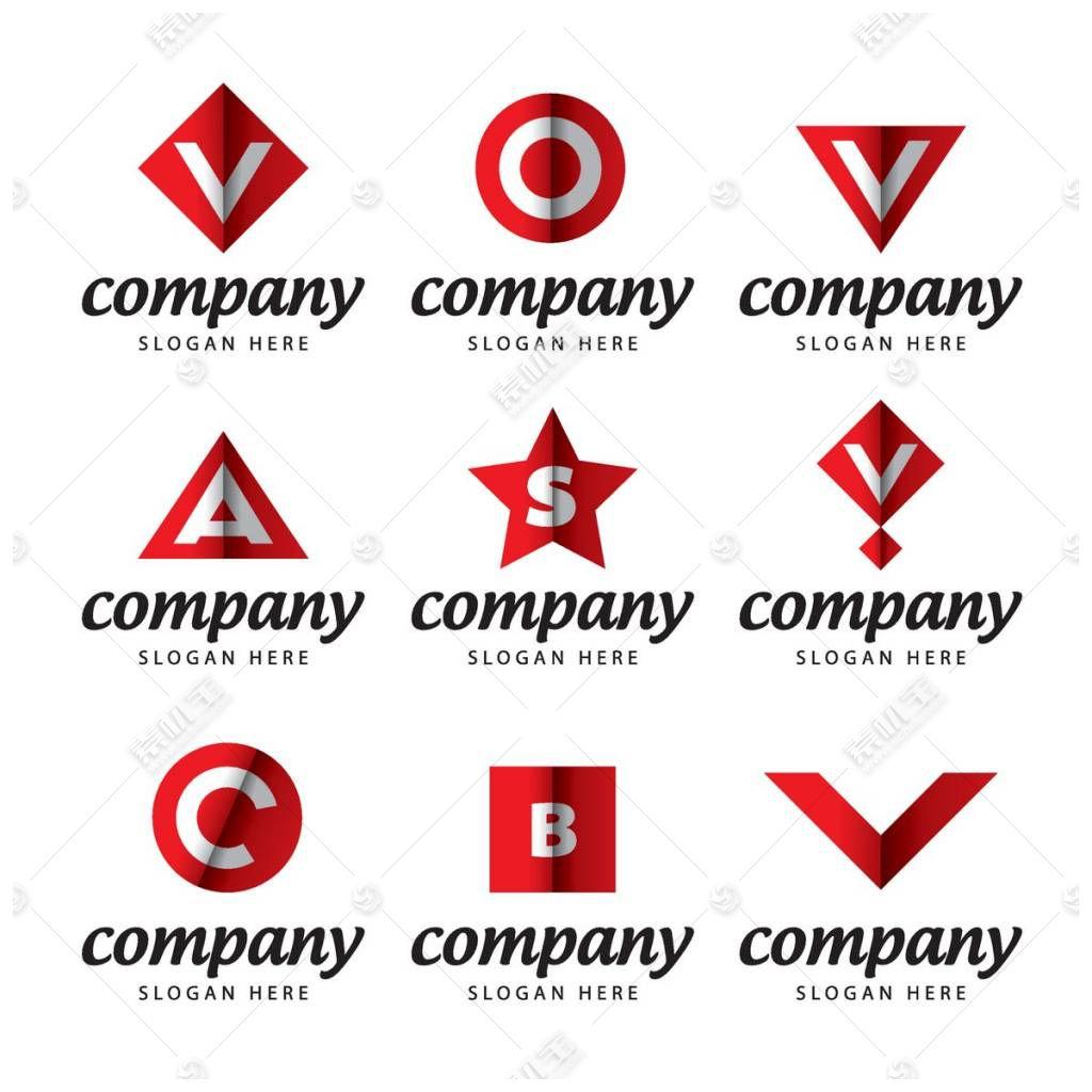 红色英文字母logo设计